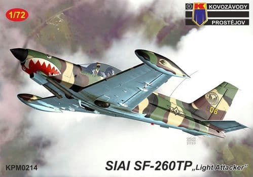 "Kovozavody Prostejov 1/72 Model Kit 72214 SIAI SF-260TP ""Light Attacker"""