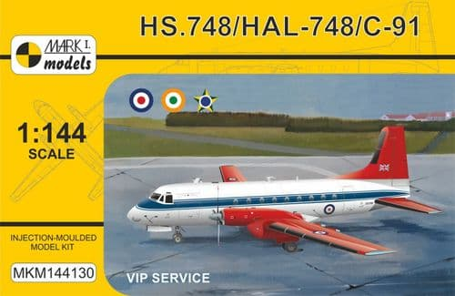 Mark I Models  MKM144130 1/144 Model kit Hawker-Siddeley HS.748/HAL-748/C-91 'VIP Service'