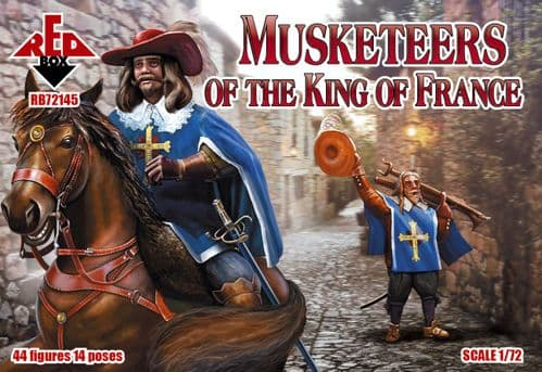 Red Box 1/72 Figure set 72145 Musketeers of the King Of France