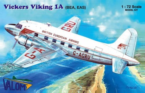 Valom 1/72 Model Kit 72149 Vickers Viking Mk.1A 'BEA, EAS' (G-AGRU, F-BMEU)