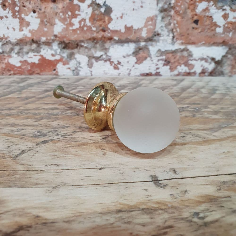 25mm Frosted Glass Cupboard Knob