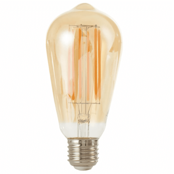 6W E27 LED Filament Vintage Dimmable Squirrel Cage Lamp - Tinted - 2200K Extra Warm White