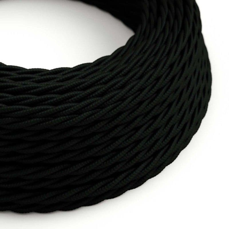 Black Twisted 3 Core  Electrical Cable