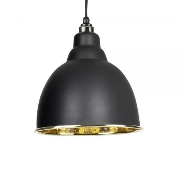From The Anvil 49517B Black Hammered Brass Brindley Pendant