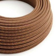 Gold and Burgundy 3 Core Electrical Cable