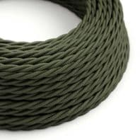 Green Grey Twisted 3 Core Electrical Cable