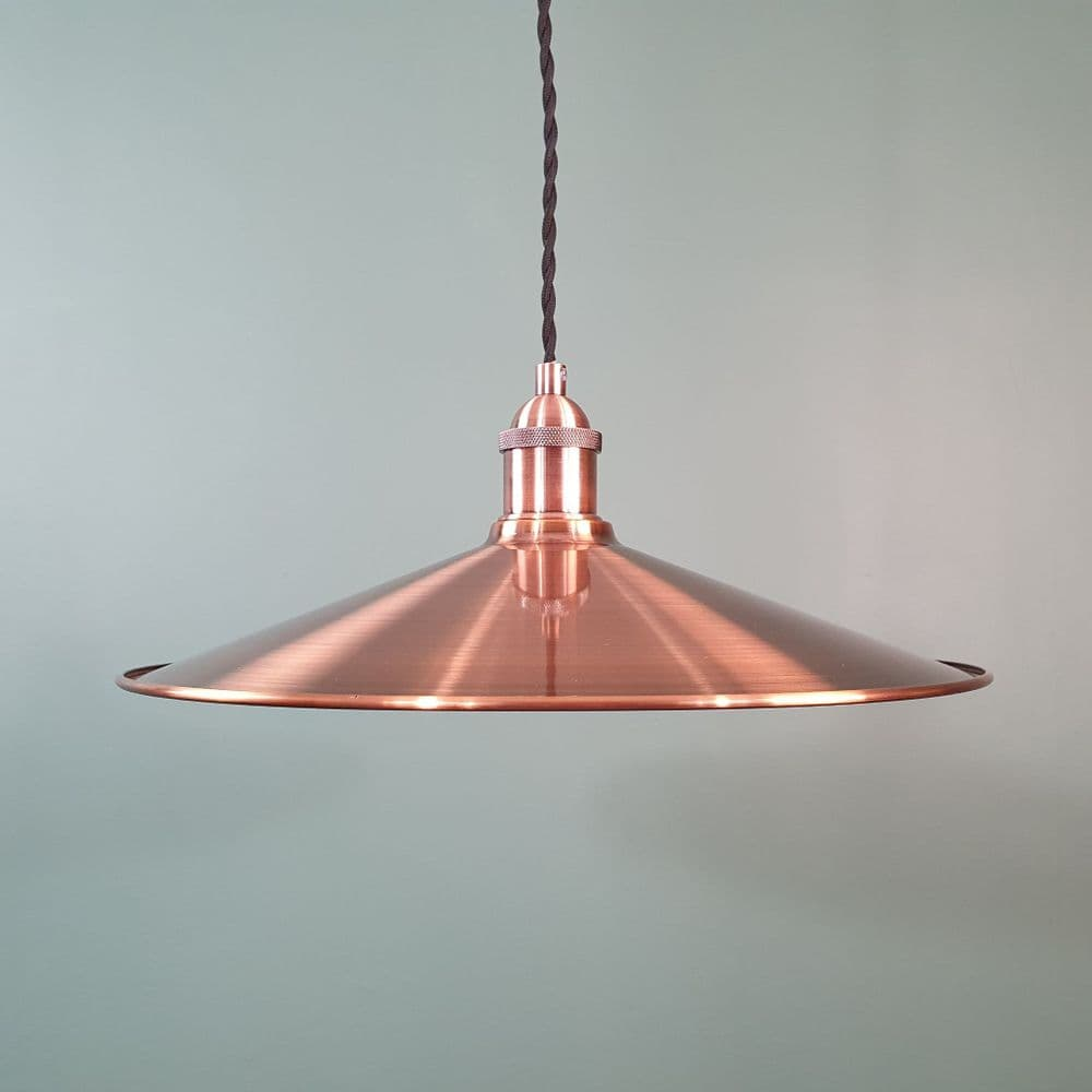 Large Coolie Shade Antique Copper
