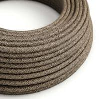 Natural Linen Brown 3 Core Electrical Cable