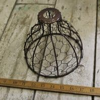 Pendant Hanging Light 'Bell Chicken Wire' 150mm