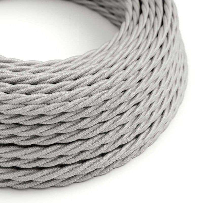 Silver Twisted 3 Core Electrical Cable