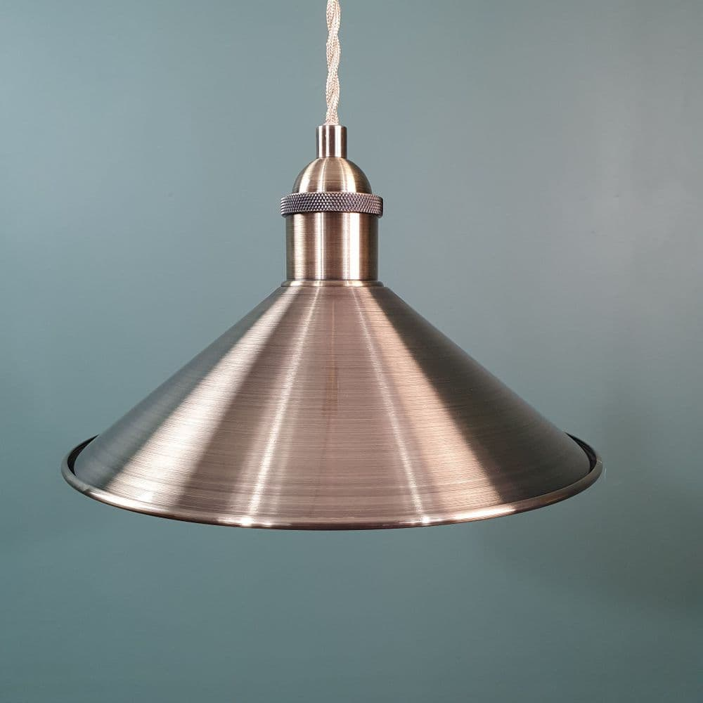 Small Coolie Shade Antique Brass