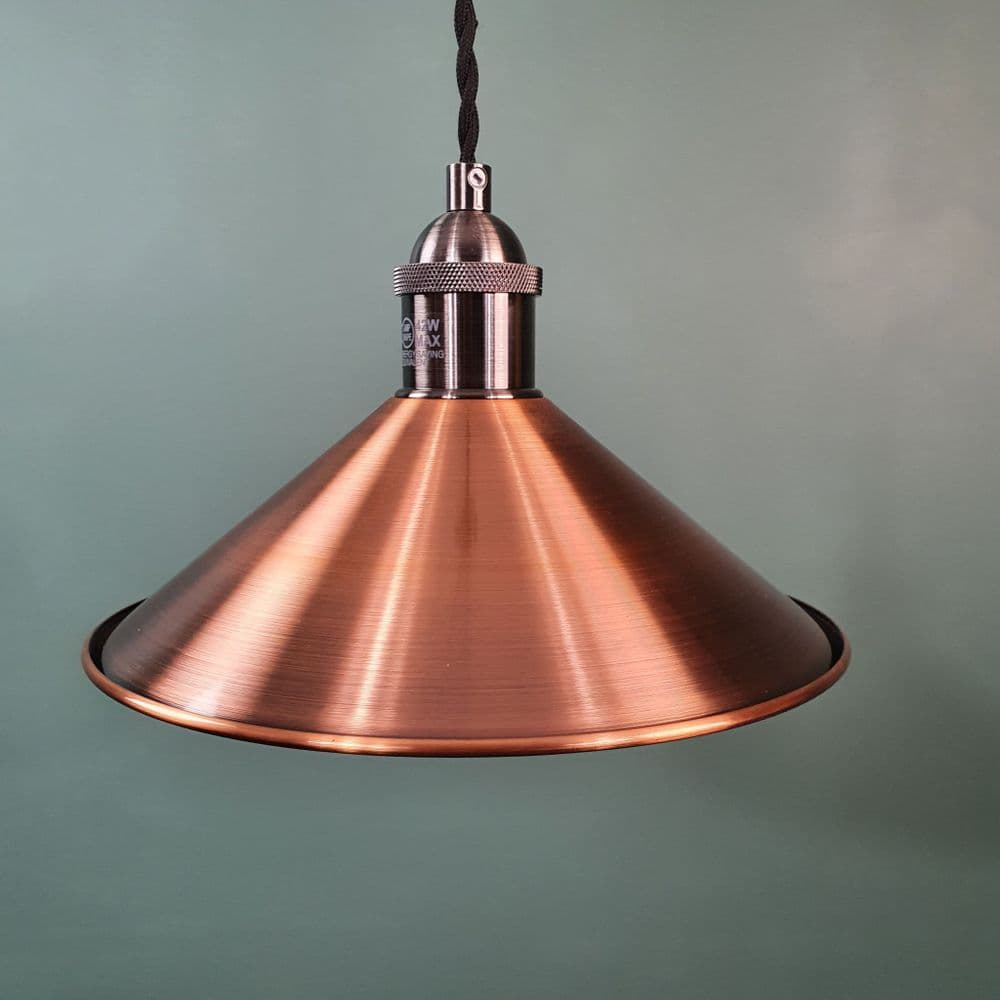 Small Coolie Shade Antique Copper