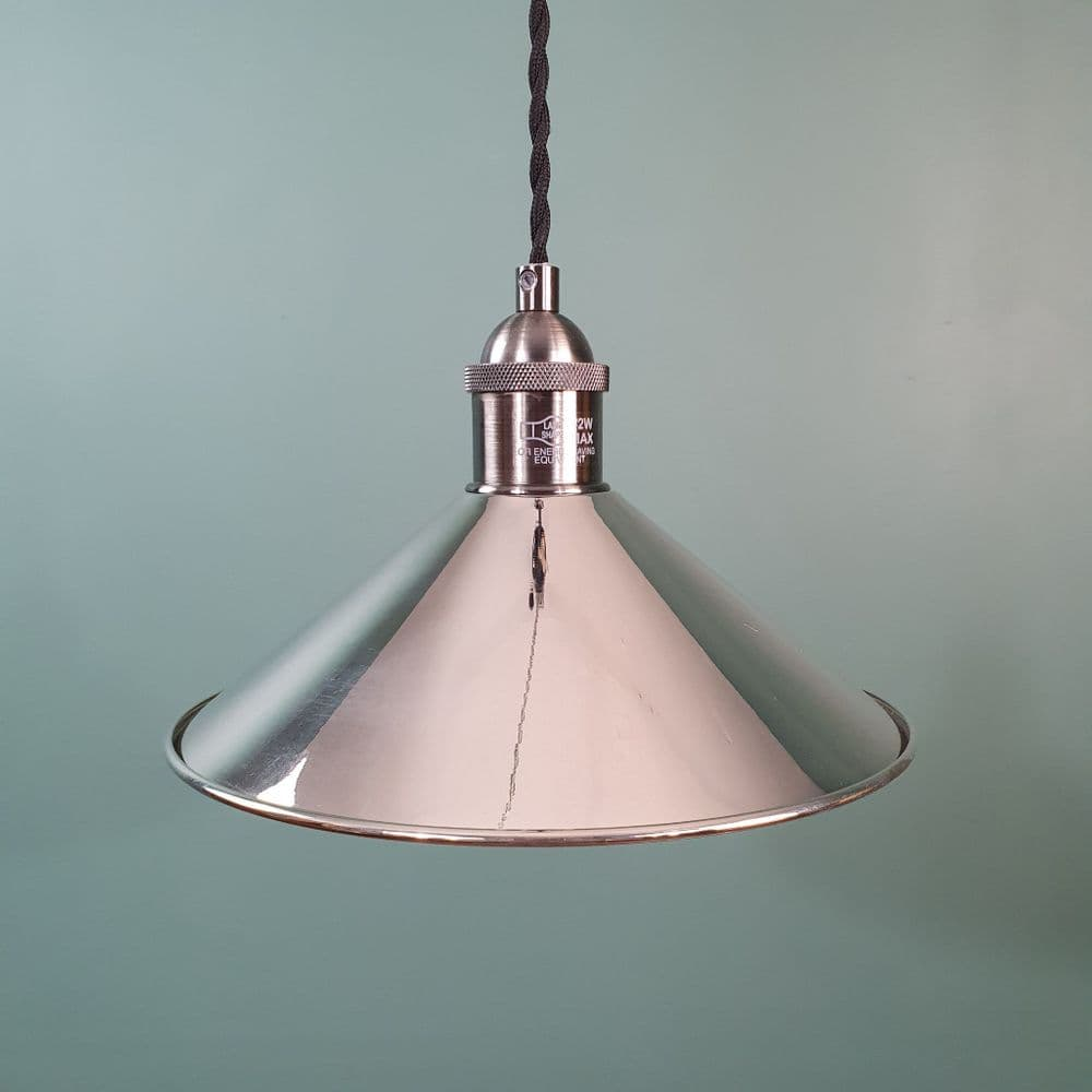 Small Coolie Shade Polished Nickel