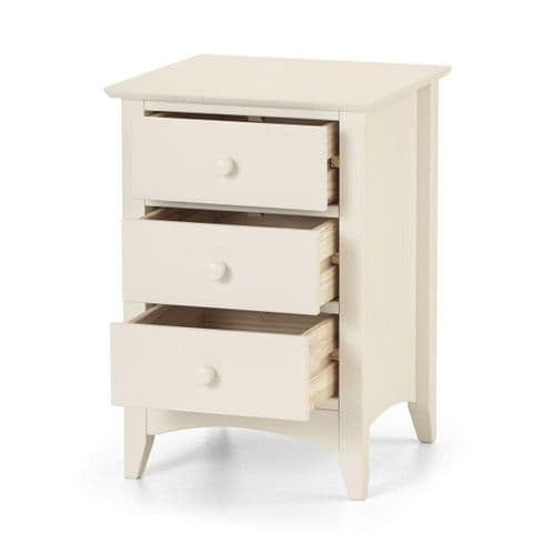 Bellagio three drawer bedside
