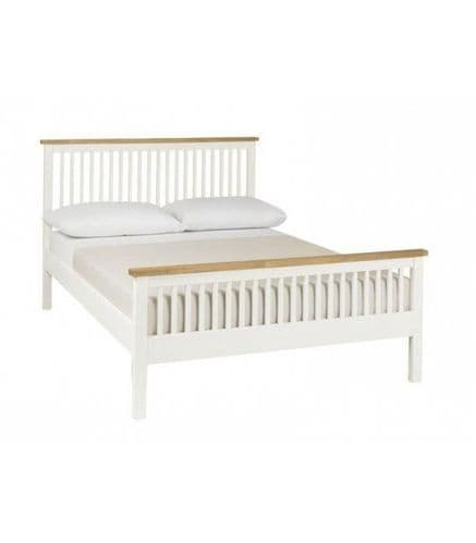 Bentley Designs Double Atlanta Two Tone High Foot End Bed Frame