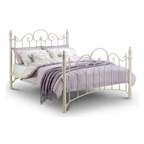 Isla Bed - Stone white finish
