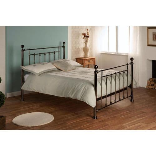 Libra Bed-  Black Chrome