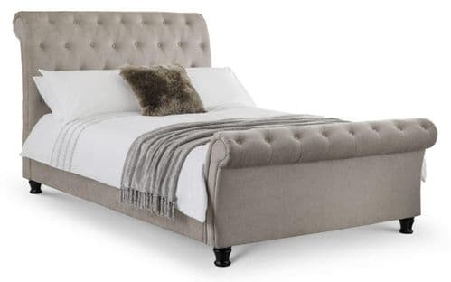Modena Deep Button Scroll Bed
