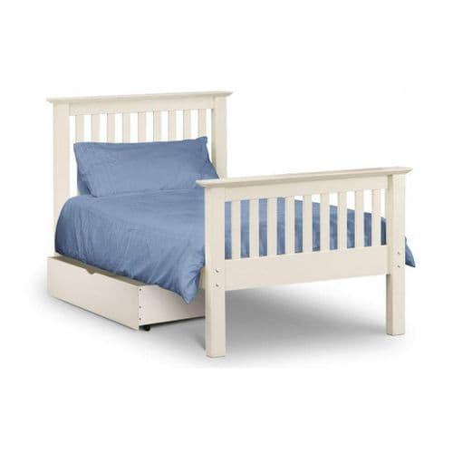 Orleans Bed- High Foot End White Finish