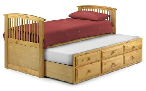 Plaza Bed - Antique pine finish