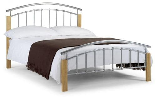Provence Bed - Aluminium/Oak finish