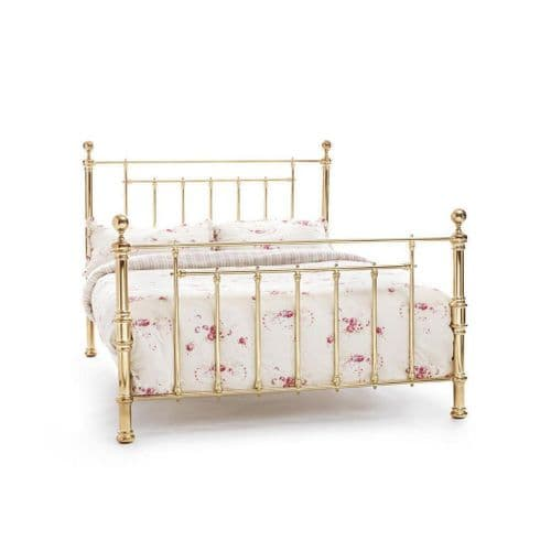 Serene Double Benjamin Bed Frame in Nickel or Brass