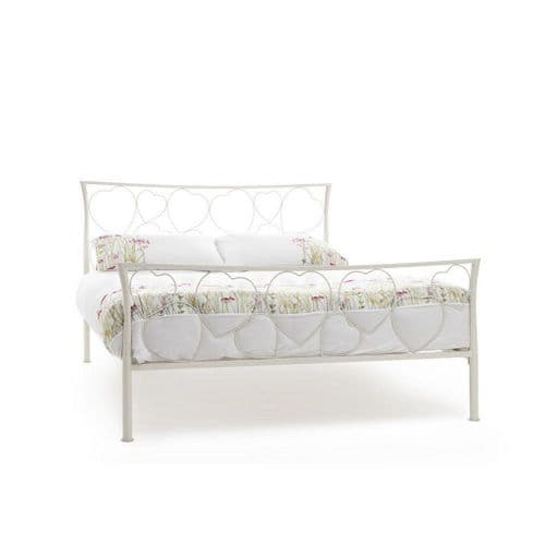 Serene Double Chloe Bed Frame in Ivory Gloss