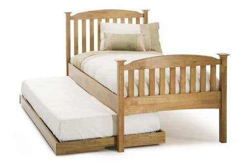 Serene Double Eleanor High Foot End Wooden Guest Bed in Honey Oak or Opal White
