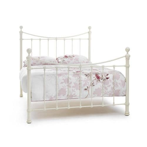 Serene Ethan Bed Frame in Ivory Gloss, Black with Brass or Ivory gloss with Brass
