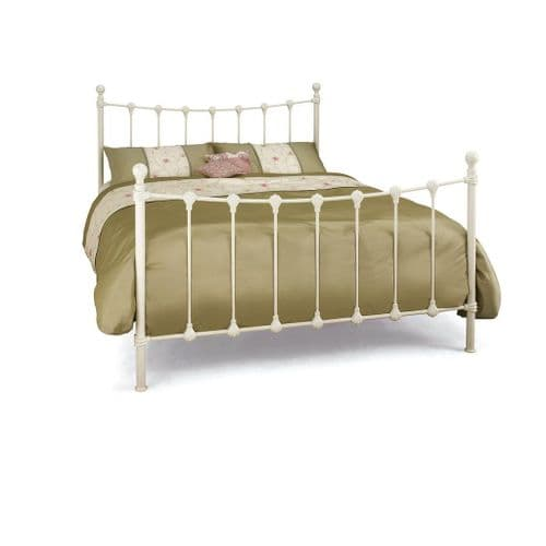 Serene Marseilles Bed Frame in Black or Ivory Gloss