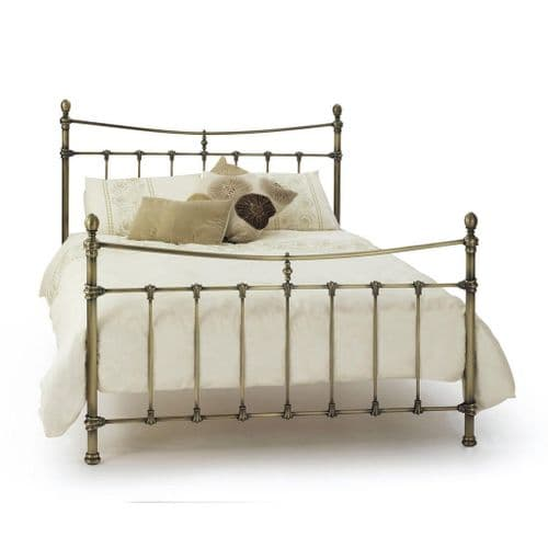 Serene Olivia Bed Frame in Antique Brass
