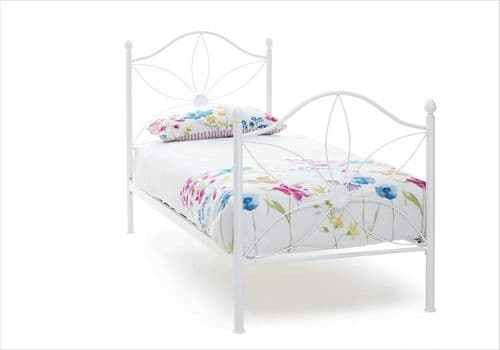 Serene Single Daisy Bed Frame in White