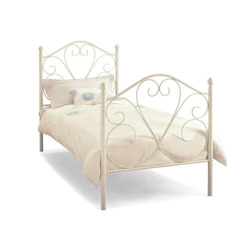 Serene Single Isabelle Bed Frame in White Gloss