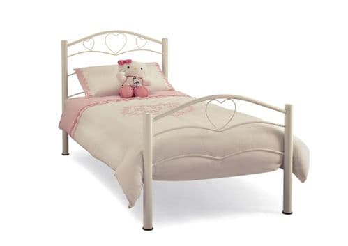 Serene Single Yasmin Bed Frame in White or Pink Gloss