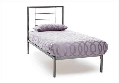 Serene Single Zeus Bed Frame in Nickel or Black Nickel