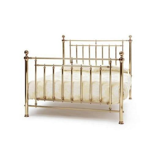 Serene  Solomon Bed Frame in Nickel or Brass Finish