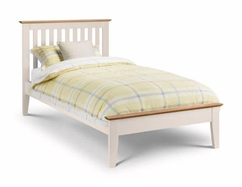 Tremezzo bed - Two Tone Ivory /Solid Oak - 90cm