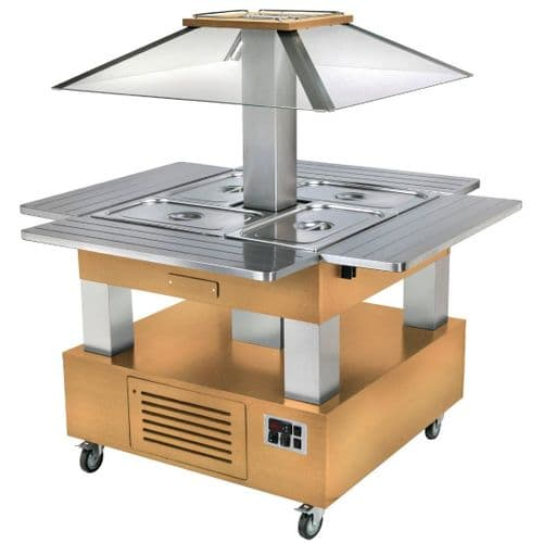 Roller Grill Chilled Salad Bar Square Light Wood GP305
