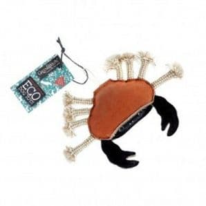 Green & Wilds Carlos the Crab (Eco dog toy)