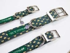 Mabel & Mu Dog Collars - Love Me Green - from