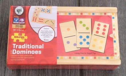 Dominoes Traditional Game Bigjigs Wooden Toys