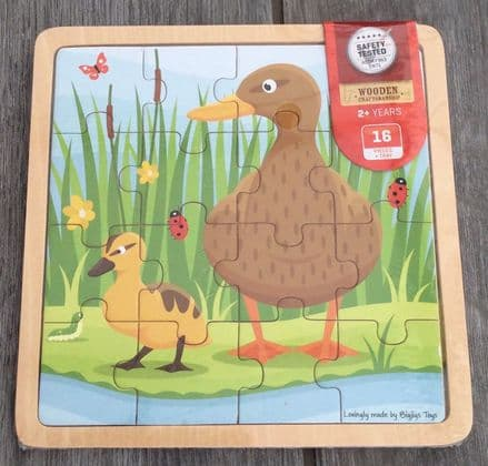 Duck & Duckling 16 Piece Tray Puzzle Bigjigs