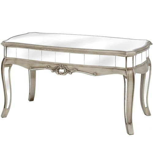 Argente Mirrored Coffee Table - Flat Silver