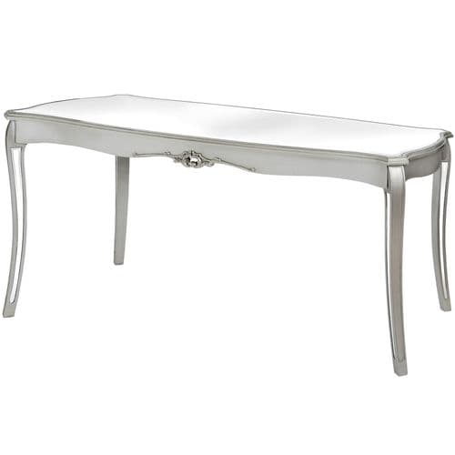 Argente Mirrored Dining Table - Flat Silver