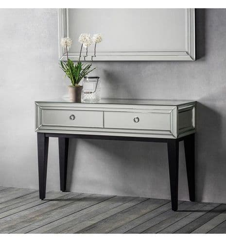 Aster Mirrored Console Table Silver