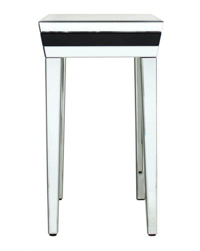Black Modena Mirrored Telephone Table