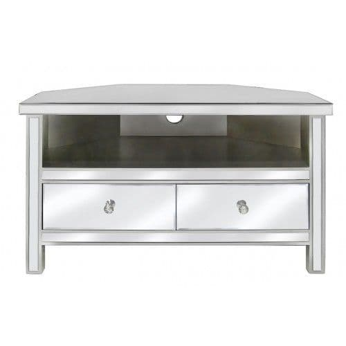 Classic Mirrored Corner TV Entertainment Unit