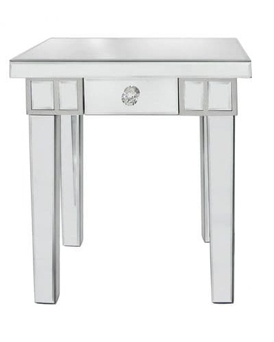 Classic Mirrored Lamp Table