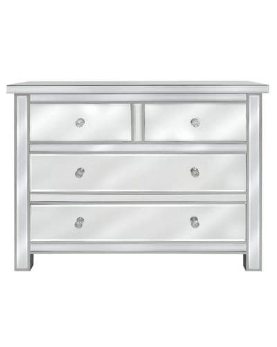 Classic Mirrored Large Chest Of Drawers