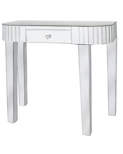 Classic Mirrored Tile Console Table